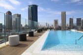 Swimming pool on the roof — Stock Photo
