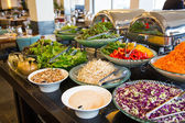 Large selection of vegetarian dishes — Stock Photo