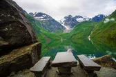 Bondhusvatnet lake, Norway — Stock Photo