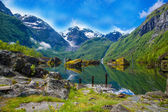 Great Mystical Bondhusvatnet lake — Stock Photo