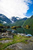 Great Mystical Bondhusvatnet lake, Norway — Stock Photo