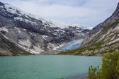 Nigardsbreen glacier, an arm of the Jostedals glacier, is a popular tourist attraction — Stock Photo
