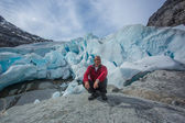 Nigardsbreen glacier, an arm of the Jostedals glacier, is a popular tourist attraction — Foto Stock