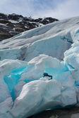 Close up of  Nigardsbreen Glacier (Norway) — Stock Photo