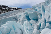 Detail of the Nigardsbreen Glacier in Norway — Photo