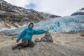 норвегия: поход на ледник — Стоковое фото