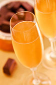 Champagne And Chocolate — Stock Photo