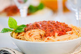 Tasty Bolognese Pasta — Stock Photo