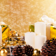 Christmas Candles — Stock Photo #14388093
