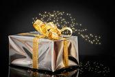 Shiny Christmas Gift — Stock Photo