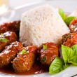 Greek Meatballs With Rice — Stock Photo