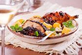 Barbecue Chicken Leg — Stock Photo