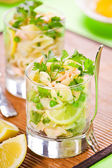 Salmon And Pasta Salad — Stock Photo