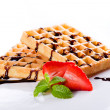 Stock Photo: Tasty Waffles