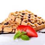 Tasty Waffles — Stock Photo #23157270