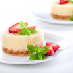 Tiny Cheesecakes — Stock Photo