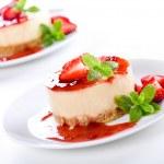 Strawberry Cheesecakes — Stock Photo