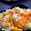 Chicken With Noodles — Stock Photo