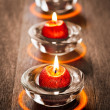 Three Red Candles — Stock Photo