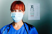 Woman surgeon — Stock Photo