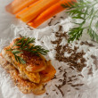 Carrot fritters with cumin — Stock Photo