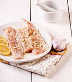 Fillet of pollack. White fish in spices — Stock Photo