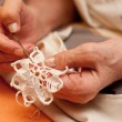 Women's hands crocheting — Stock Photo #40702619