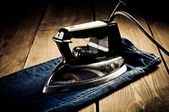 Old electric iron, touch-up in retro style — Foto de Stock