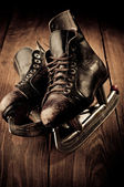Old skates. Retouching in vintage style. — Stockfoto