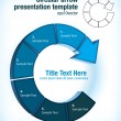 Circular arrow presentation template - Image vectorielle