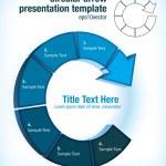 Шаблон презентации круговой стрелкой — Cтоковый вектор