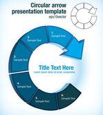 Cirkelvormige pijl presentatiesjabloon — Stockvector