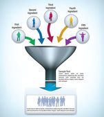 Modelo de apresentação do funil — Vetorial Stock