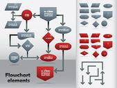流程图模板 — 图库矢量图片