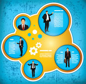 Businessman workflow concept — Stock Vector