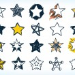 Royalty-Free Stock Vector Image: Collection of handdrawn stars