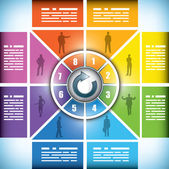 Osm fáze měnící barvu grafu pracovního postupu — Stock vektor
