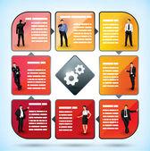 Business employee presentation chart — Stock Vector