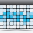 Abstract square background pattern - Stockvectorbeeld