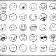 Stock Vector: Hand drawn emoticons
