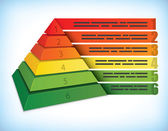 Koncepcja piramidy prezentacji — Wektor stockowy