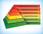 Pyramidala presentation koncept — Stockvektor