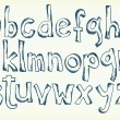 Hand-drawn letters of the alphabet - Vektorgrafik