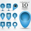 Collection of map pins — Stock Vector