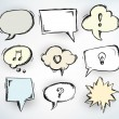 Sketchy speech bubbles — Vector de stock