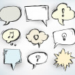 Stock Vector: Sketchy speech bubbles