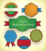 Hand-drawn labels — Stock Vector