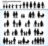 Set of family pictograms — Stock Vector