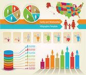 Family infograph — Stock Vector