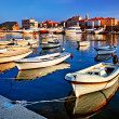 Pier with boats and yachts — Stock Photo